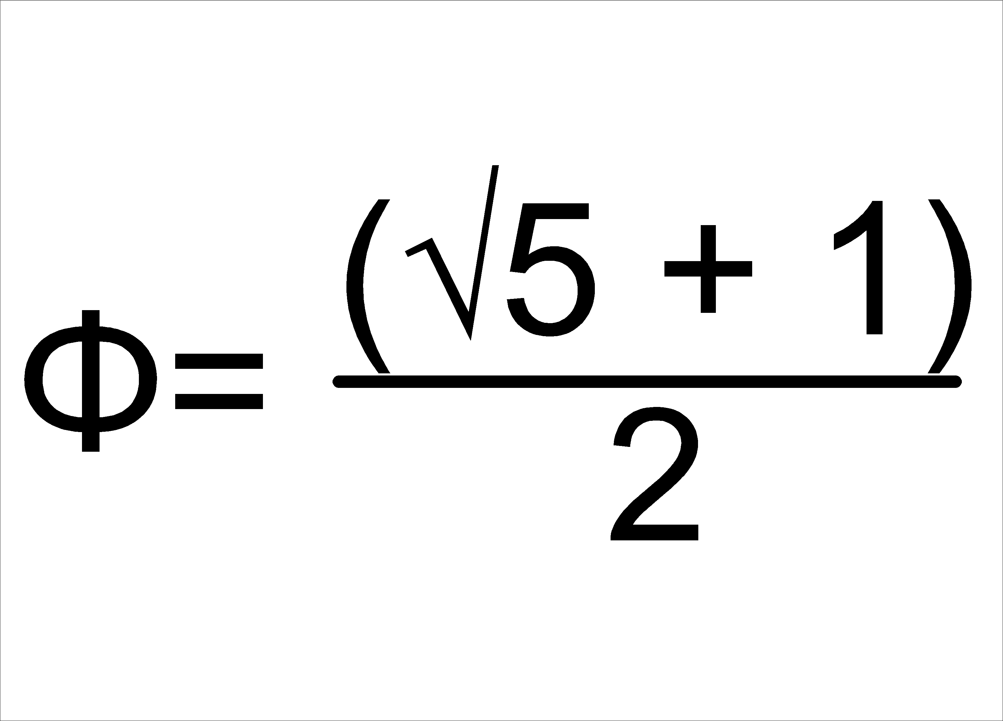 Golden section formula with a square root of 5