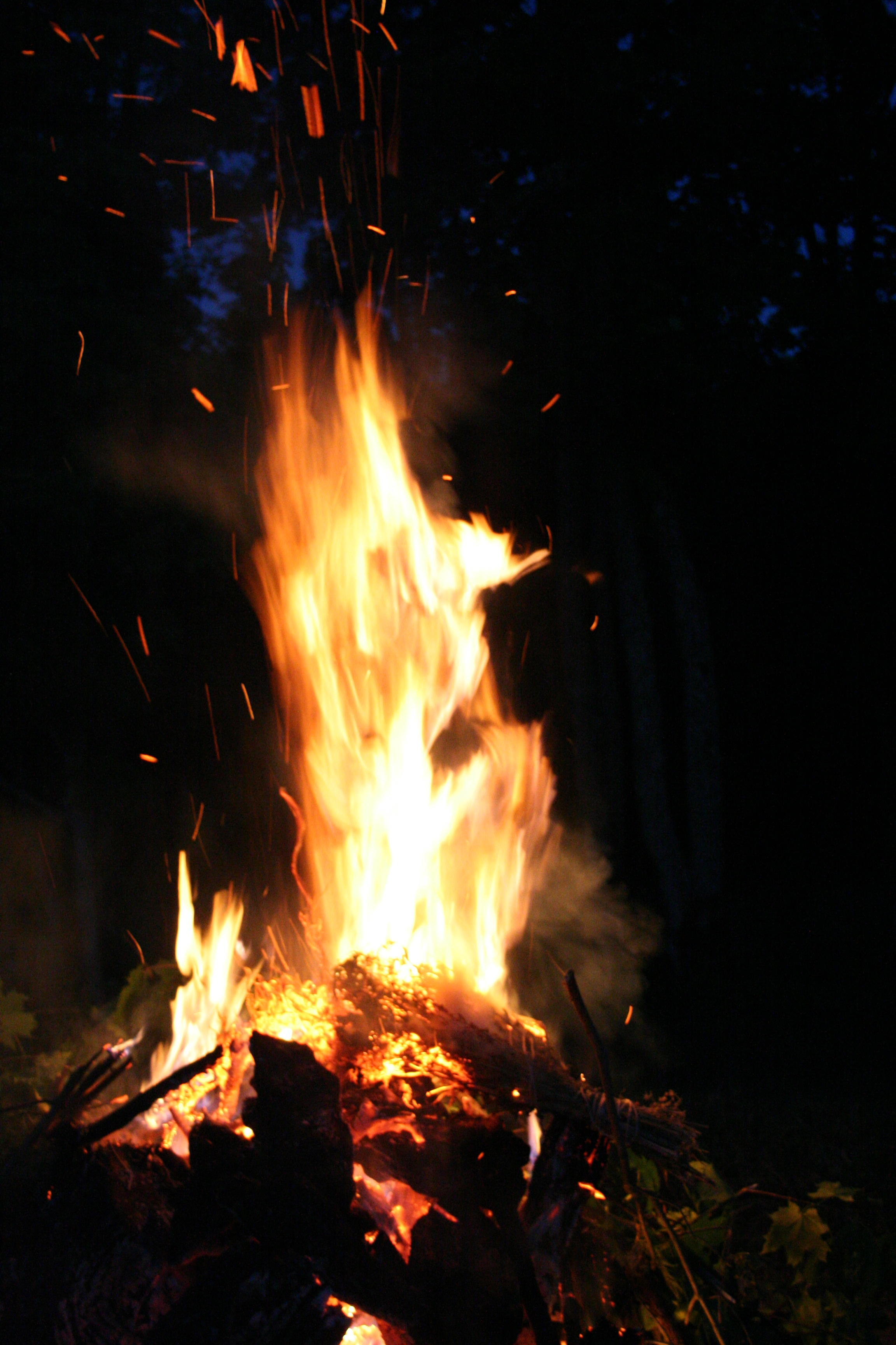 fire at summer solstice