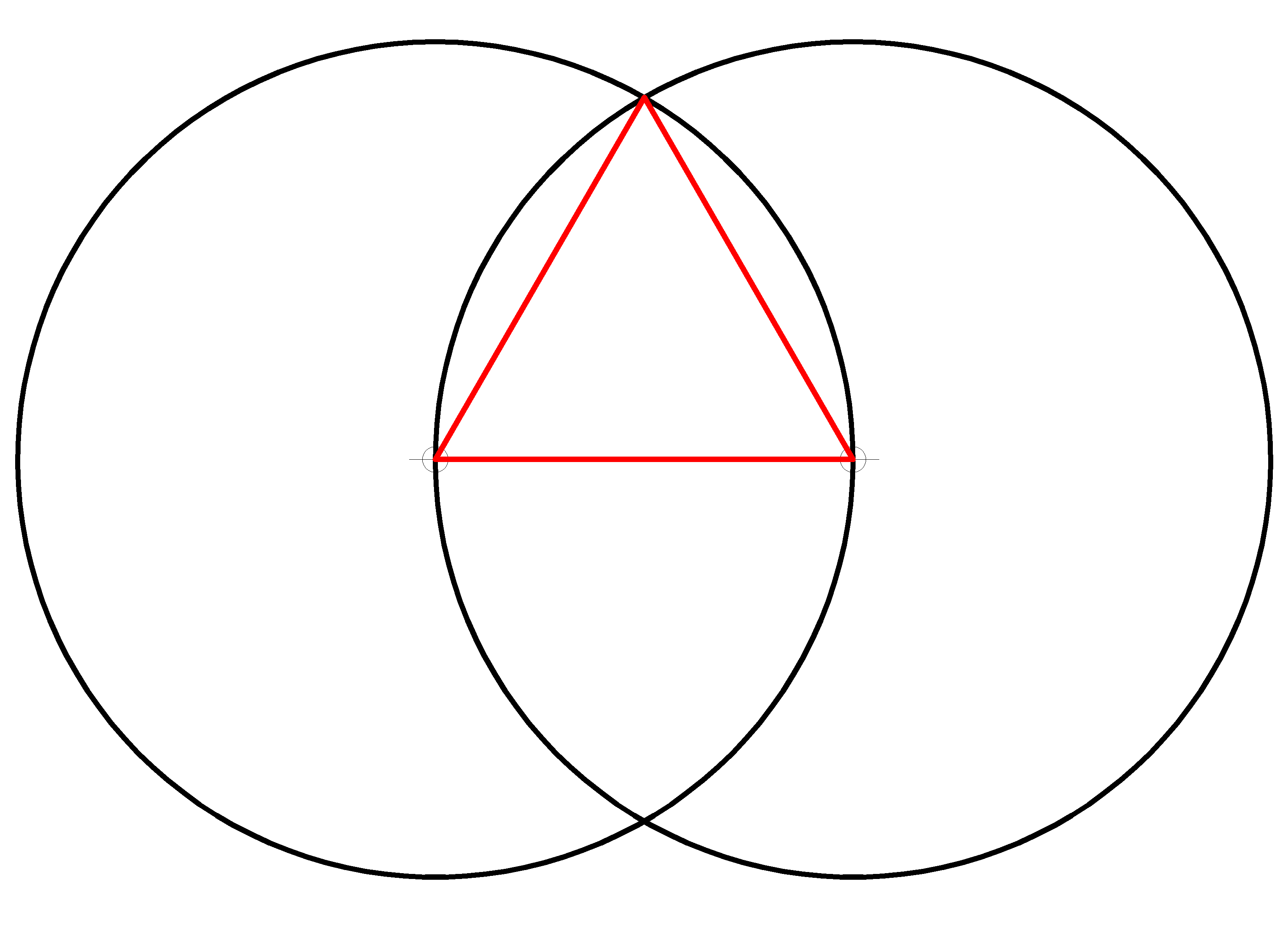 Vesica Piscis with triangle